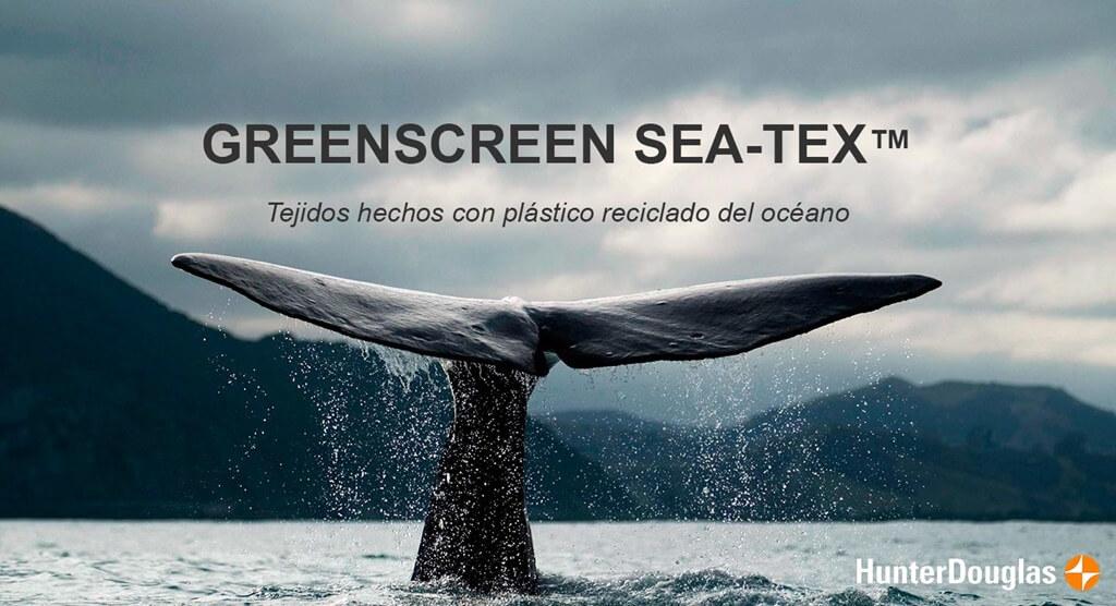 Lee más sobre el artículo Greenscreen Sea Tex, el tejido ecológico de Luxaflex