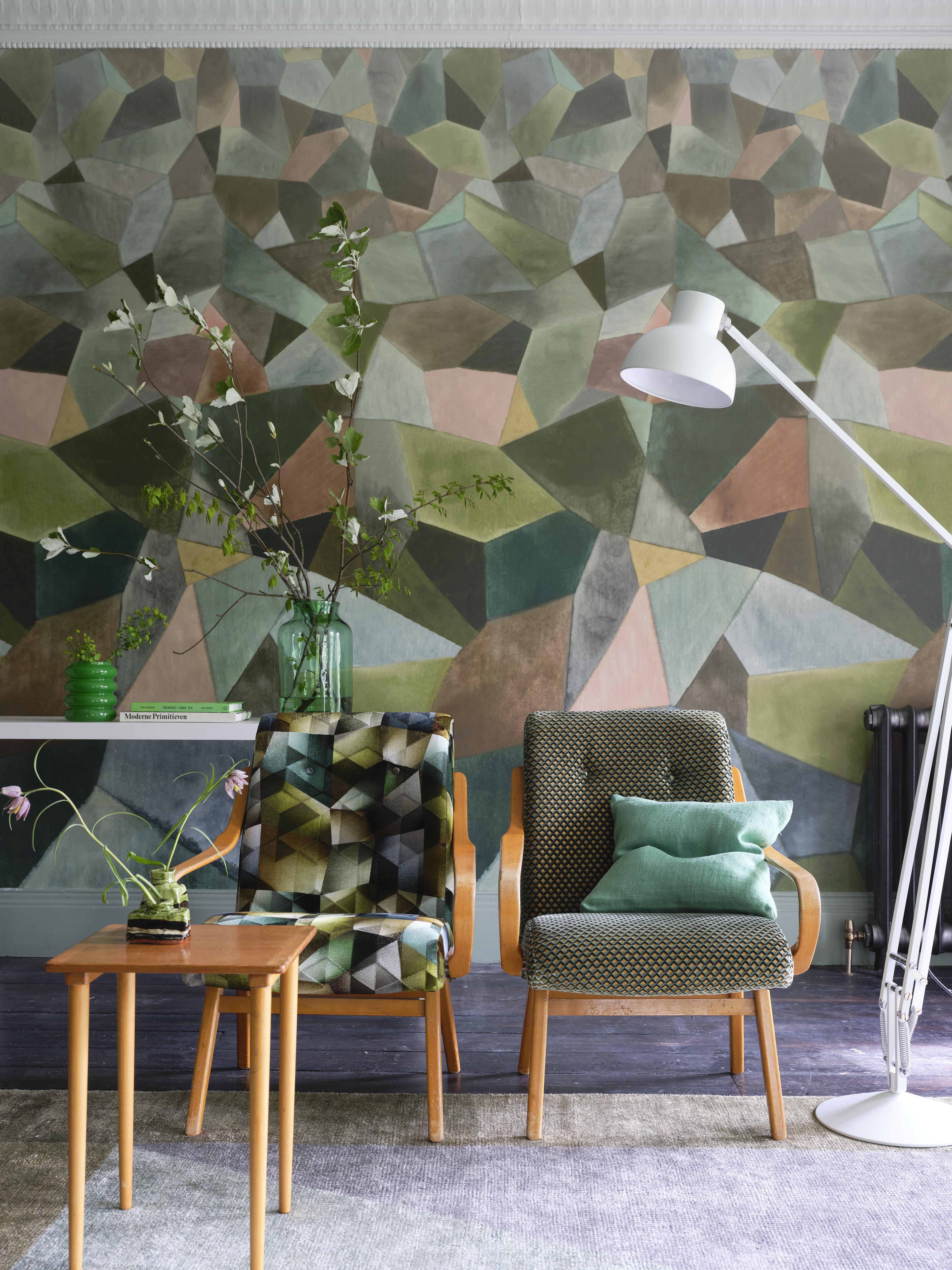 Mural panorámico de diseño geométrico