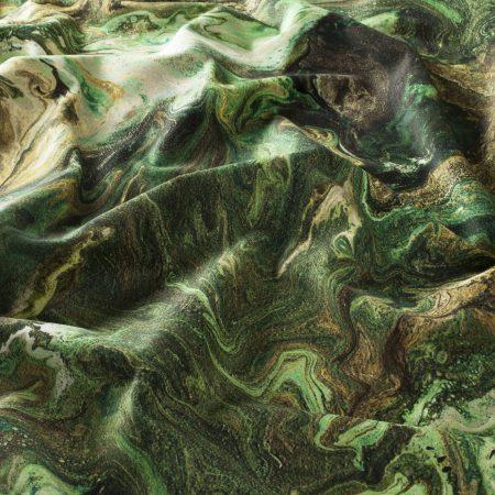 Terciopelo estampado verde