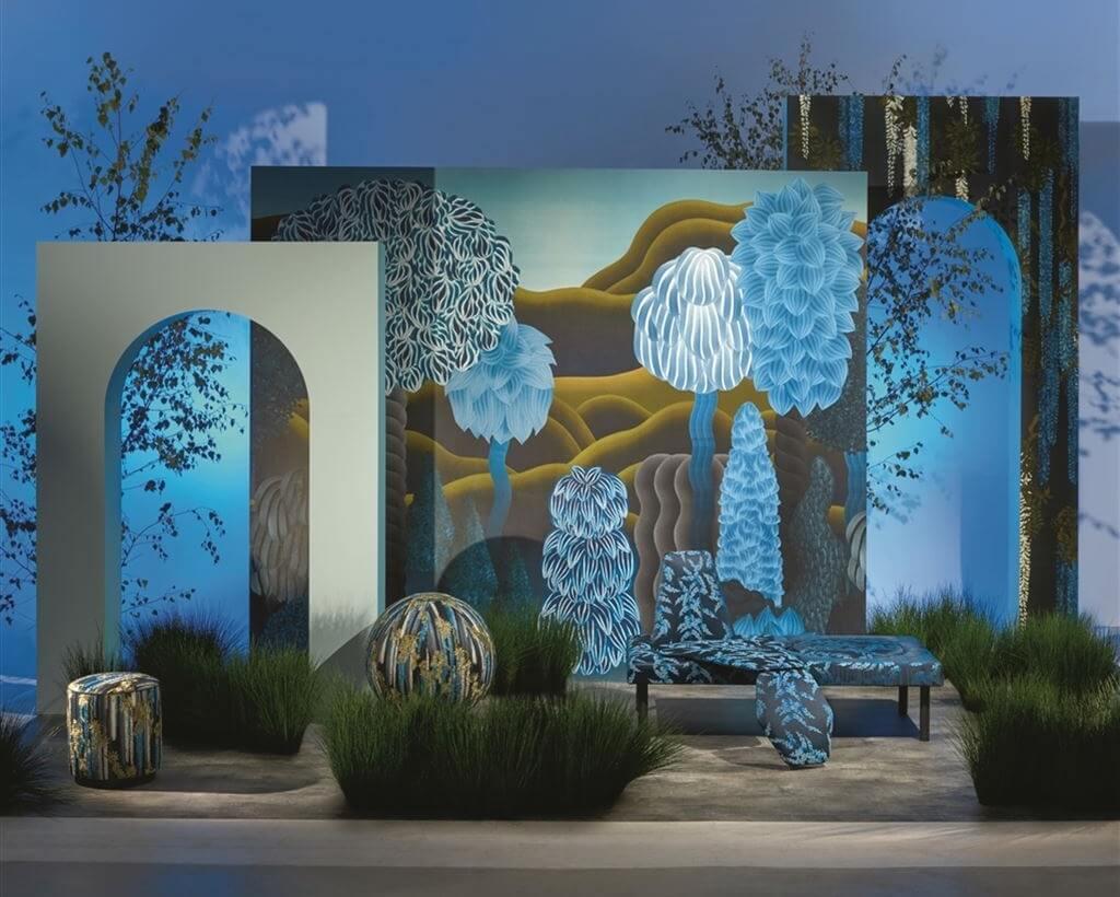 Mural panorámico Songe d'ete de Christian Lacroix Maison para Designers Guild
