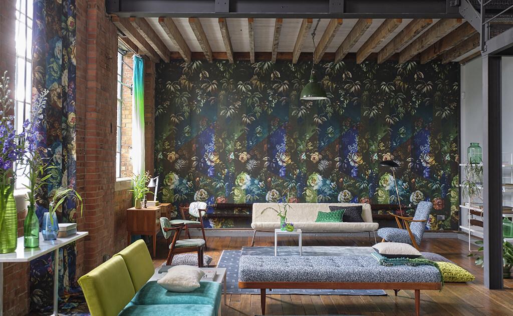 Mural panorámico Minakari de Designers Guild